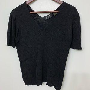 Dana Buchman Dressy Ribbed Sweater, size L
